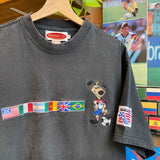 Vintage 90's World Cup Flag Tee Size Large