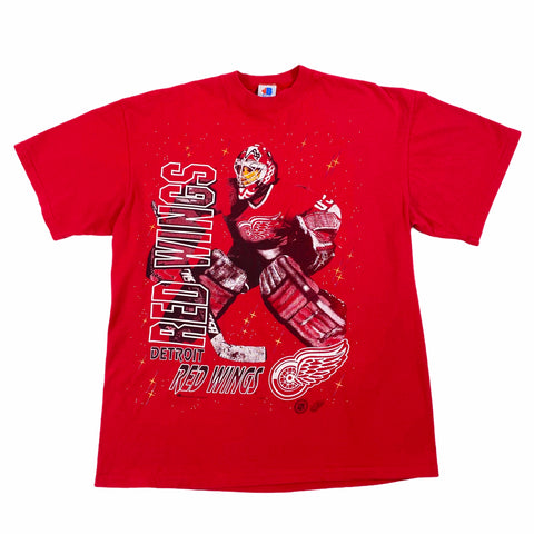 Vintage 90's Detroit Red Wings Bulletin Athletics Tee Size Large