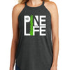 PINE LIFE Women's Tri Rocker Tank, Dark Grey