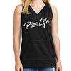 Women's Athletic Blend Hoodie Tank - Black