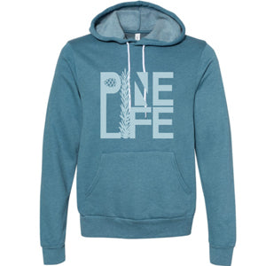 NEW! PINE LIFE Unisex Pullover Hoodie - Blue