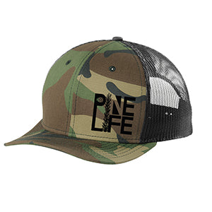 Restocked! Snapback Low Profile Trucker Hat - Camo/Black