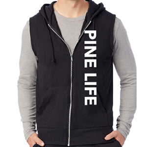 Men's Sleeveless Warm Up Hoodie - Black