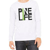 Long Sleeve Jersey Unisex Tee - White