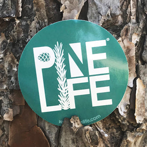 "PINE LIFE Sticker - 3"" Teal Round"