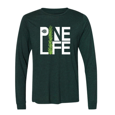 Long Sleeve Jersey Tri-blend Unisex - Emerald Pine