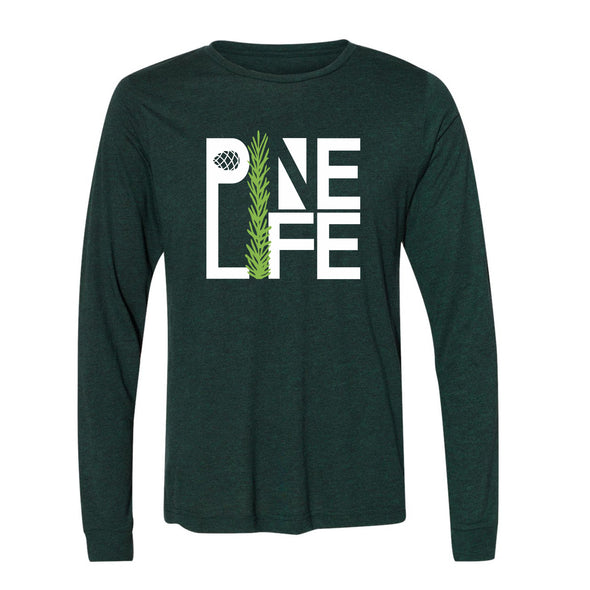 NEW! Long Sleeve Jersey Tri-blend Unisex - Emerald Pine
