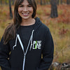 PINE LIFE Signature Fleece Zip Hoodie, Black
