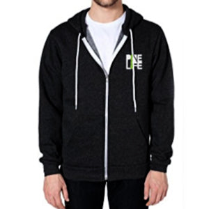 PINE LIFE Signature Full-Zip Hoodie - Black