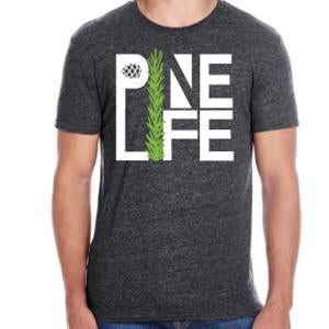 PINE LIFE - Men's Signature Tri-blend T-Shirt, Dark Heather Grey