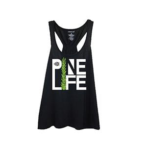 PINE LIFE - Youth Girl's Flare Racerback Tank, Black