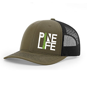 PINE LIFE Snapback Trucker Hat - Military green and black