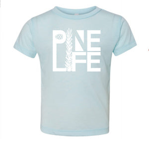 PINE LIFE Toddler Tri-blend Short Sleeve Tee - Ice Blue