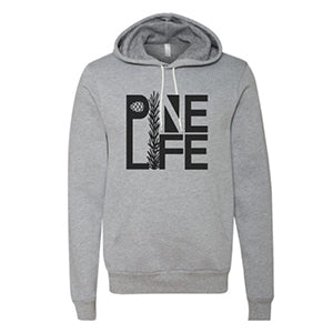 Unisex Pullover Hoodie - Heather Grey and Black