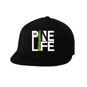 PINE LIFE - Signature Flat Bill Hat, Black