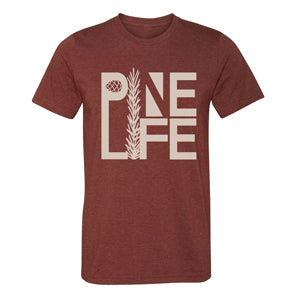 PINE LIFE Crew Neck Tri-blend T-Shirt, Rust