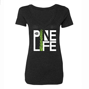PINE LIFE Women's Tri-Blend Deep V-Neck