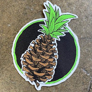 "New! Pinecone & Pineapple Hybrid Sticker - 2"" Diecut"