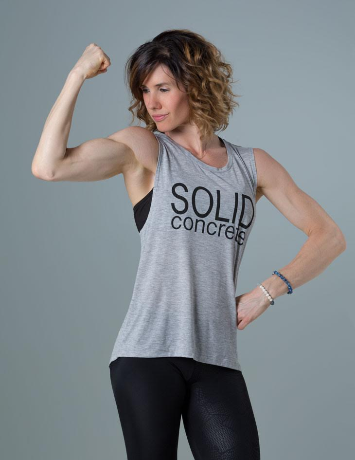Solid Concrete Muscle T