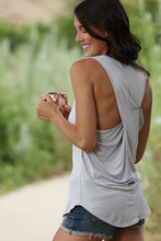 Sleeveless Top with Back Cross Detail