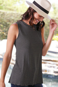 Stripe Sleeveless Top