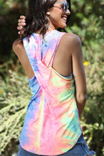 Neon Color Tie Dyed Cross Back Top