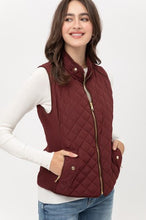 Padding Front Zip Up Pocket Vest