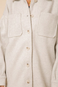Textured Knit Jacket Button Down