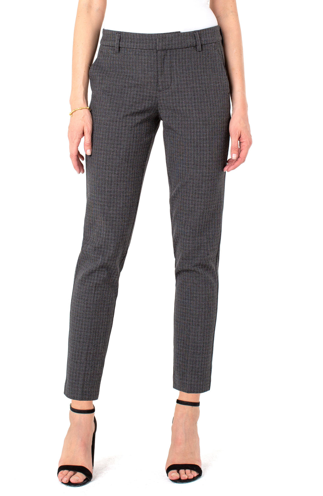 Liverpool Kelsey Knit Trouser (grey/black check)