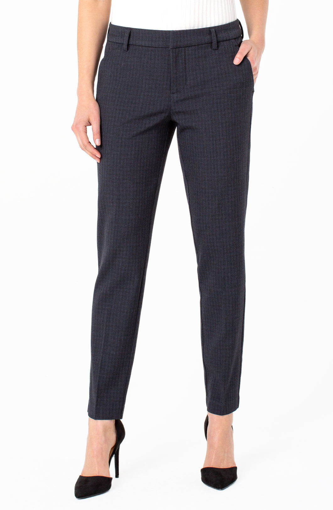 Liverpool Kelsey Knit Trouser (navy/black check)