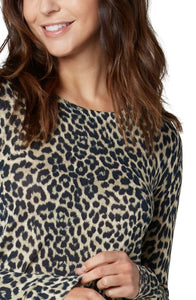 Liverpool Leopard Print Long Sleeve Sweater