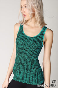 Nikibiki Feather Printed Tank Top