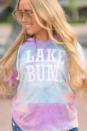 Lake Bum Tie Dye Light Weight Hoodie