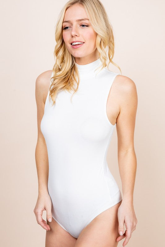 Sleeveless mock tank style bodysuit