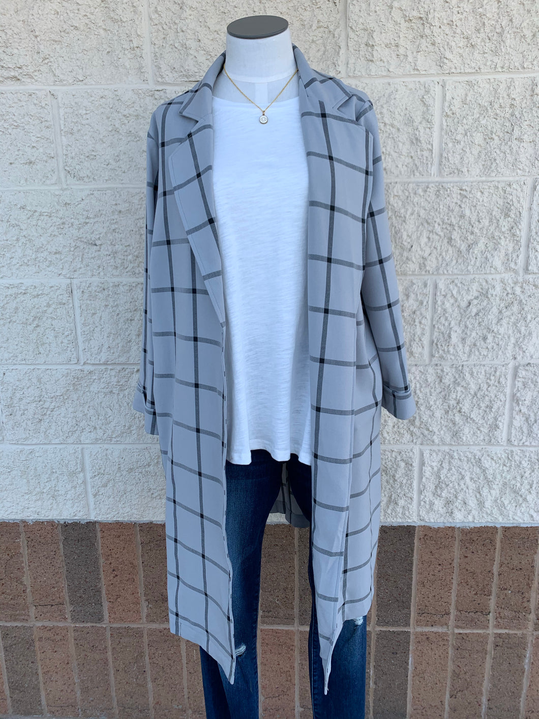 Split Side Long Blazer