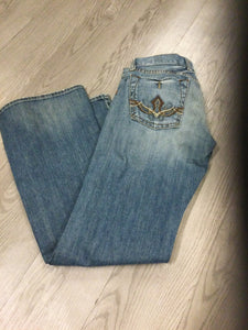 Lucky Denim Distressed with Embroidered Back Pockets