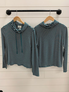 Long Sleeve Knit Stripe Top