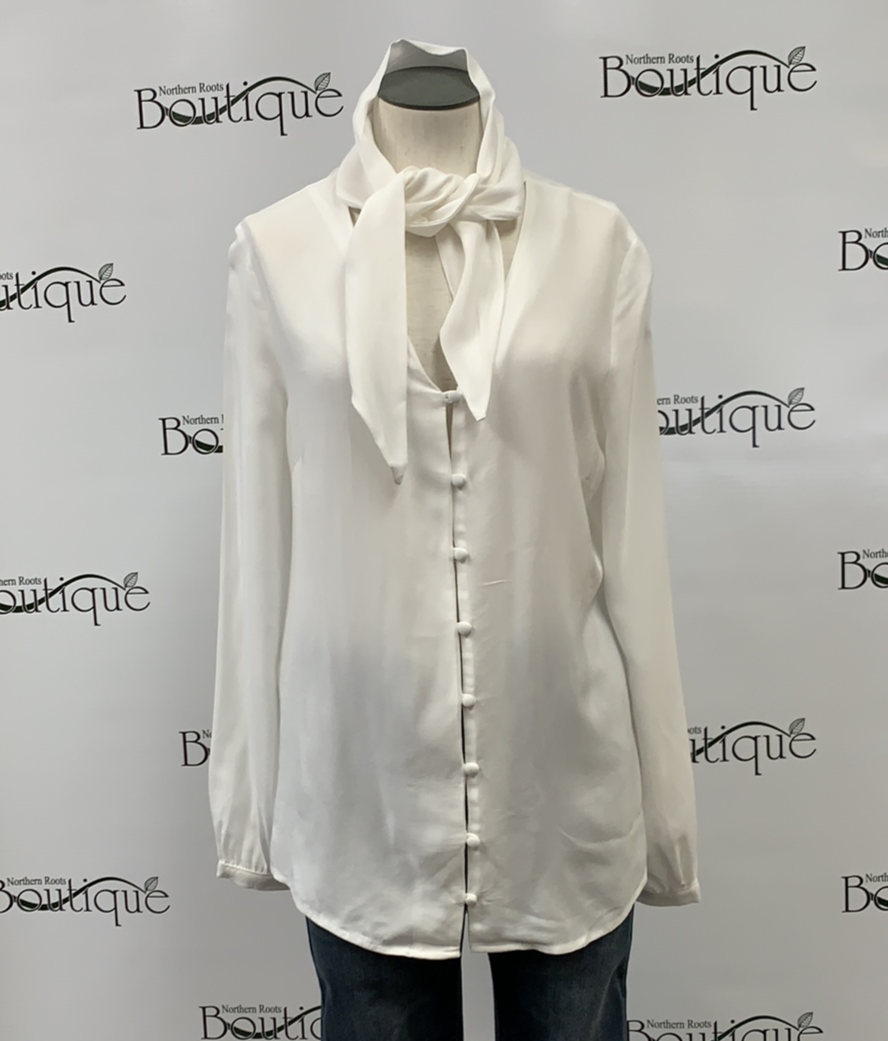 Pearl Top with Buttons and Necktie Front