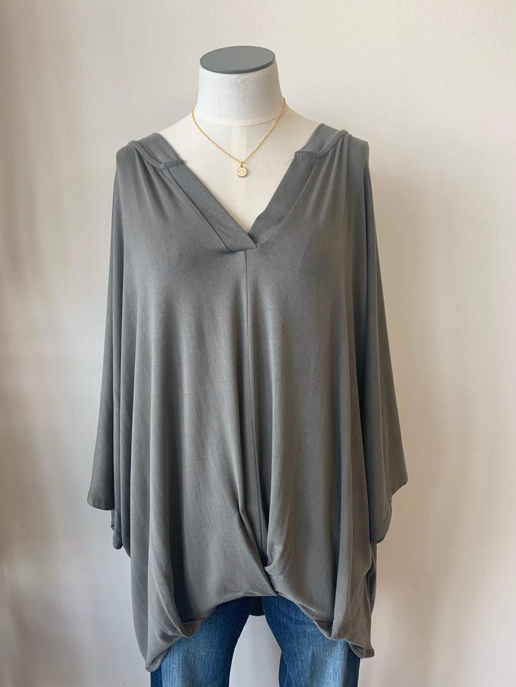Front Tucked Knit Top Plus
