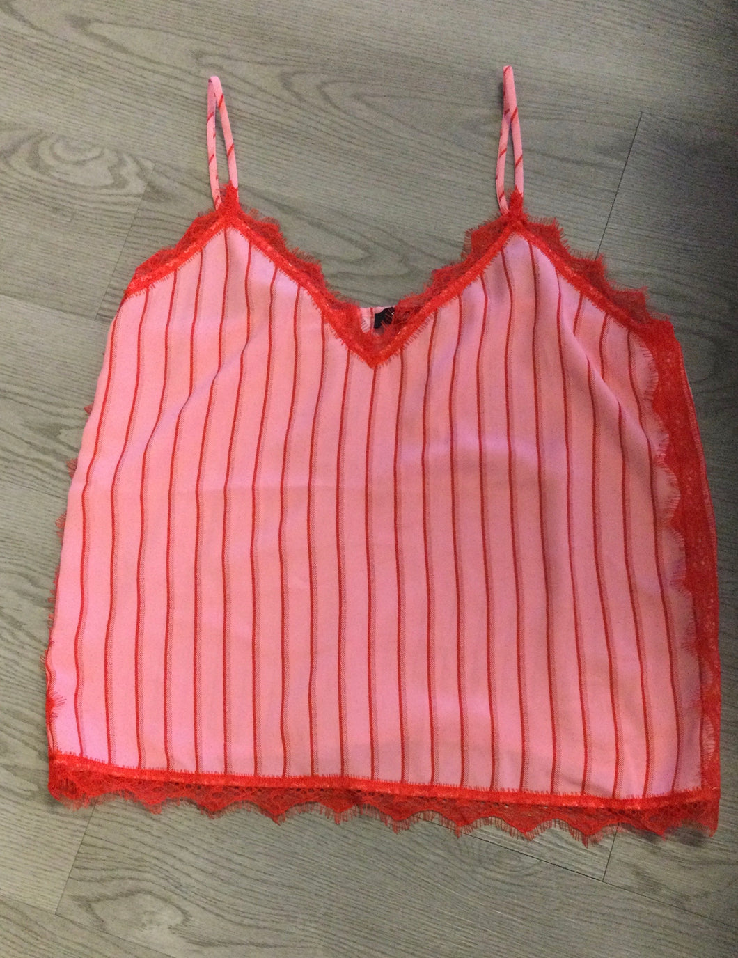 Lace Pink and Red Cami