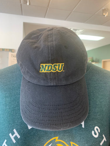 LYM NDSU Black Denim Wash Cap
