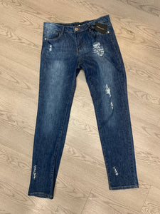 Denim Couture slim fit distressed denim jeans