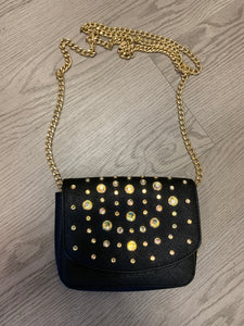 Juicy Couture Leather Crossbody With Jewel Accents