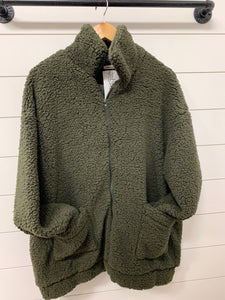 Oversized Sherpa Teddy Coat