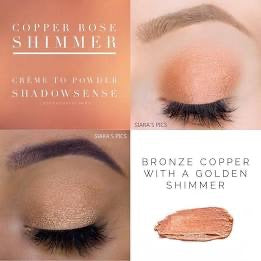 ShadowSense Shimmer Copper Rose Creme to Powder