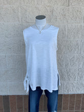 Sleeveless Top with Side Tie Detail