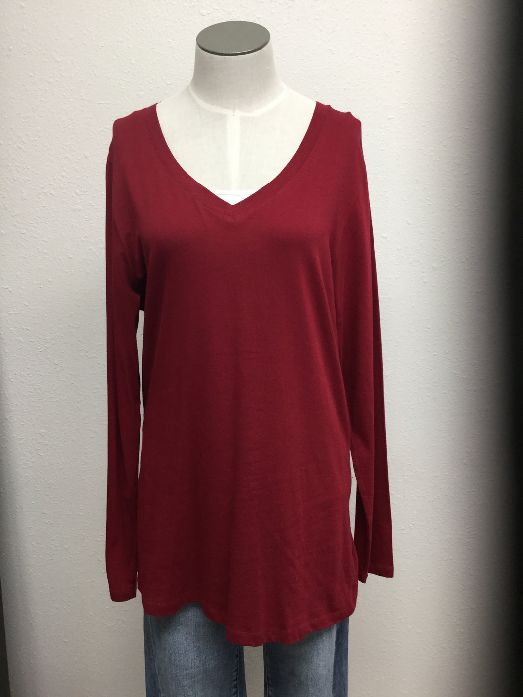 Deep Red Long Sleeve