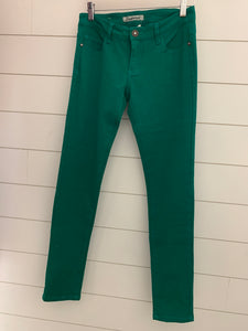Kelly Green Low Rise Jeans