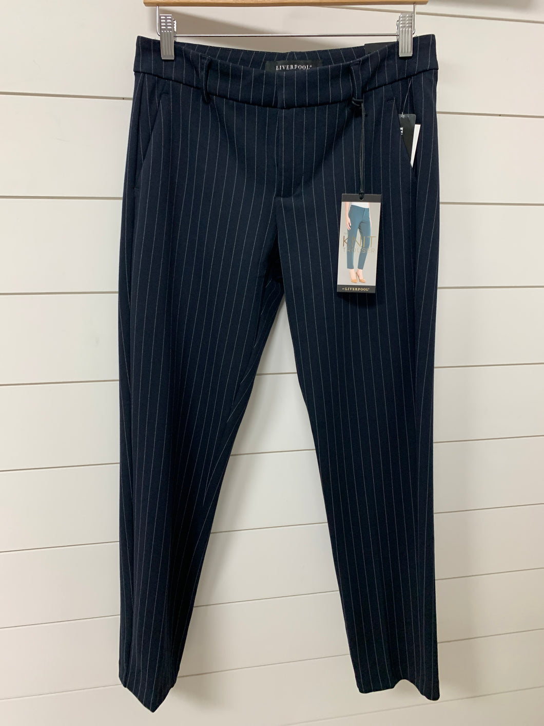 Liverpool Kelsey Knit Trouser 29' Inseam (navy)