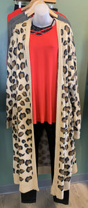 Long Cheetah Cardigan